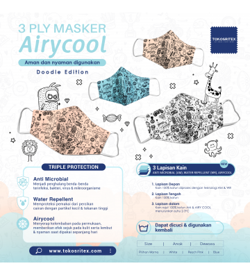 Masker 3 Ply Airycool...